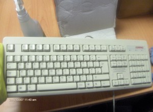 ultrasonic keyboard cleaning after shot