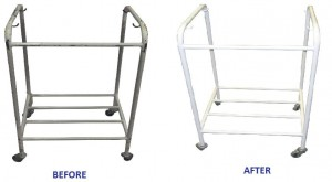 hospital equipment cleaning before after
