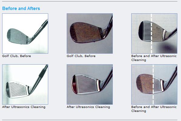ultrasonic golf cleaning before after